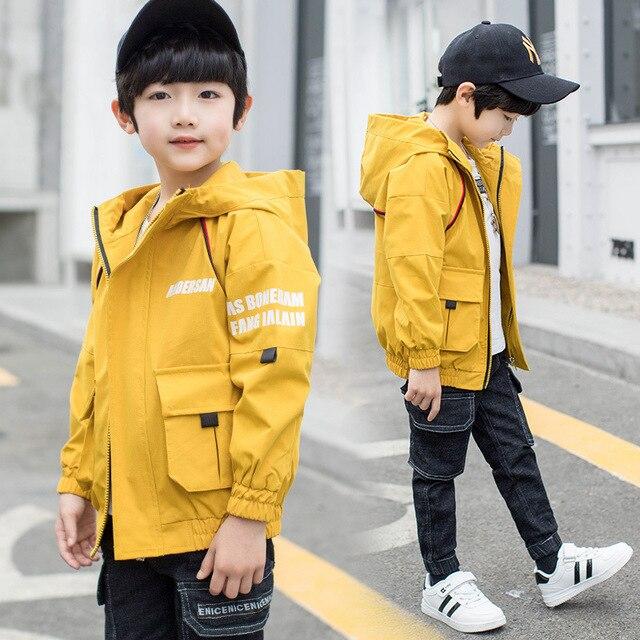 Детская одежда весна осень пальто куртки для мальчиков ветровки Верхняя одежда 4 6 8 10 12 13 лет Детская верхняя одежда детская одежда