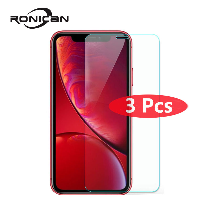 3Pcs Film Tempered Glass Screen Protector Protection en Verre trempe <font><b>ecran</b></font> protecteur For <font><b>iphone</b></font> 6 <font><b>iphone</b></font> 6 S <font><b>6S</b></font> 7 8 XS Max X image