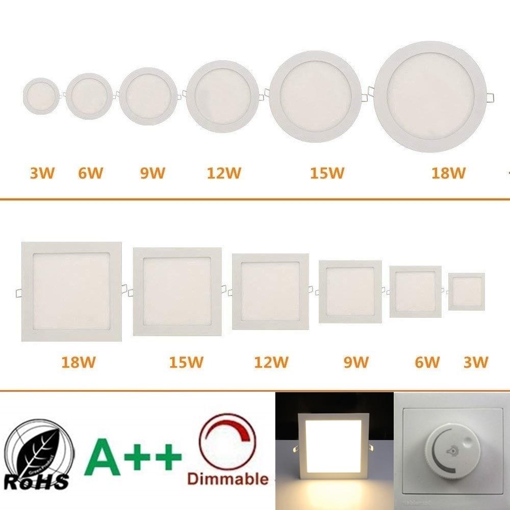 ניתן לעמעום LED שקוע תקרת אור עם AC90-265V מבודד שנאי כיתת אנרגיה + + Ultra Slim LED לוח מנורה