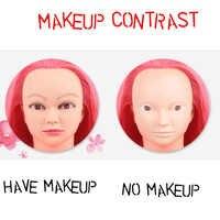 MISSQUEEN 100% Hohe Temperatur Faser Rosa Haar Mannequin Kopf Gute Ausbildung Kopf für Braid Friseur Gliederpuppe Kopf