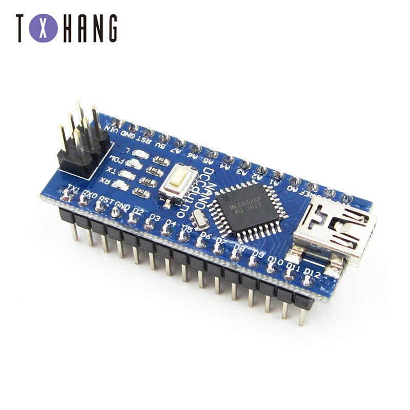 1 قطعة TENSTAR روبوت نانو 3.0 تحكم نانو CH340 برنامج تشغيل USB ATMEGA328 ATMEGA328P نانو USB صغير مع بوتلودر لاردوينو