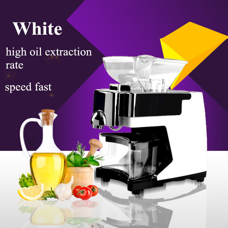 110V Or 220V Nut Seeds Oil Press Extraction Machine 550W Automatic Cold Hot Pressed Electric Home Use Oil Press Machine 110 240v commercial small oil press machine peanut sesame cold press oil machine high oil extraction rate cheap price