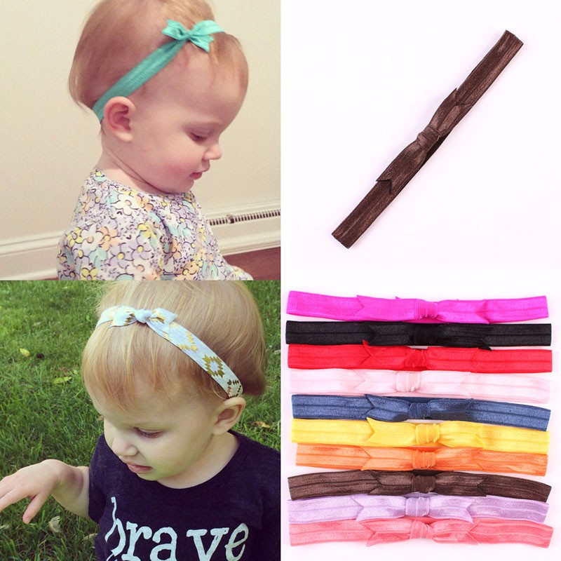 10Pcs Kids Girl Baby Toddler Bow Headband Elastic Hair Band Accessories Headwear