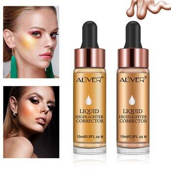 Beauty High Light Liquid 6 Colors Highlighter Make Up  Brighten Concealer Shimmer Face Glow Liquid Highlighter Cream Bronzers & Highlighters