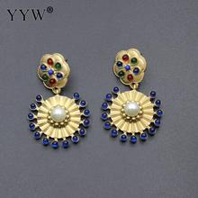 New European and American fashion retro round earrings pearl exaggerated Baroque wind