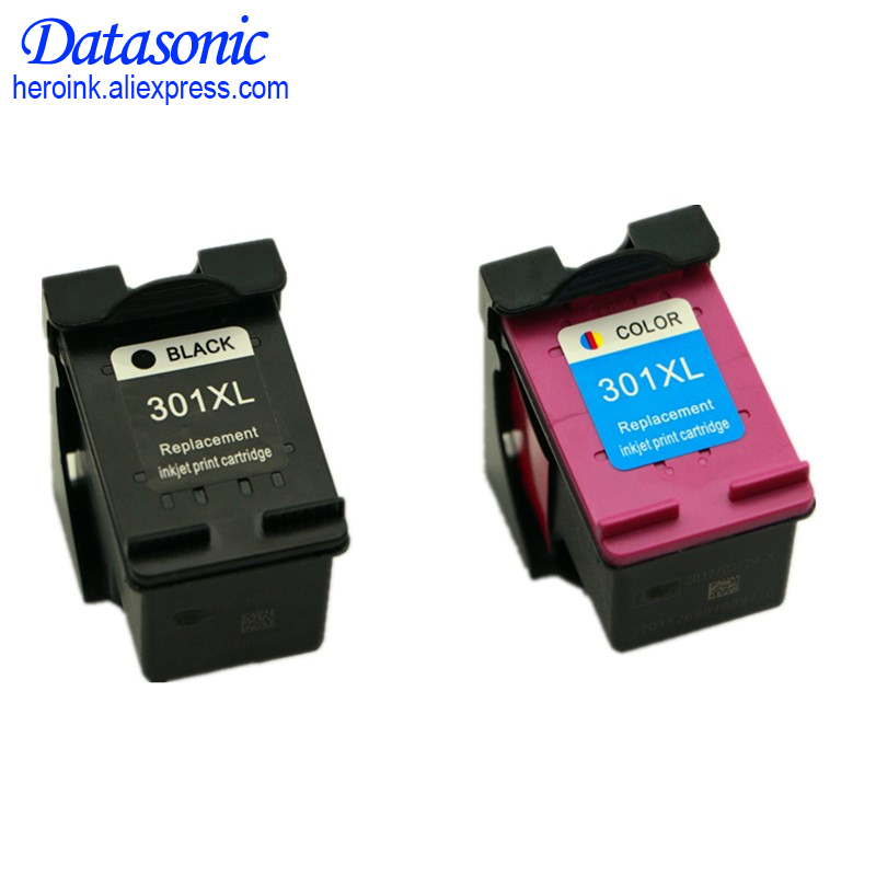 2pack 301xl ink cartridge replacement for hp301 hp 301 xl. Black Bedroom Furniture Sets. Home Design Ideas