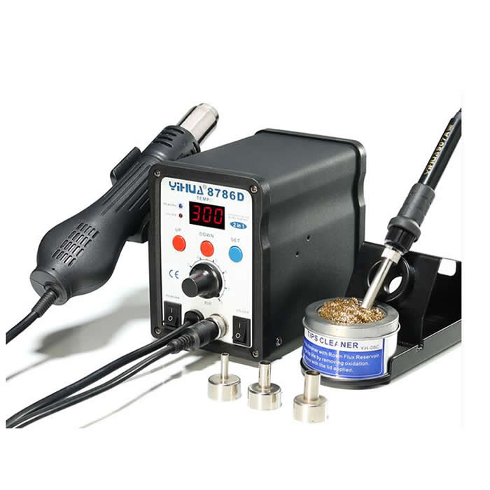 YIHUA 8786D ESD BGA Rework Machine Digital Hot Air Temperature Control Cell Phone Soldering Station
