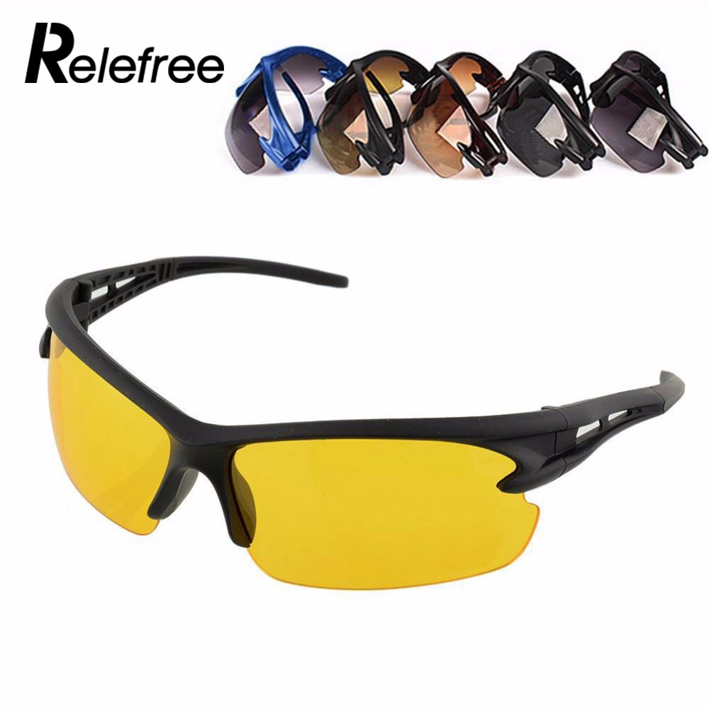 relefree NEW Sunglasses Night Vision UV Protective Outdoor Sport Motocycle Riding Running Fishing Driving Hiking Bicycle Cyclingrelefree NEW Sunglasses Night Vision UV Protective Outdoor Sport Motocycle Riding Running Fishing Driving Hiking Bicycle Cycling