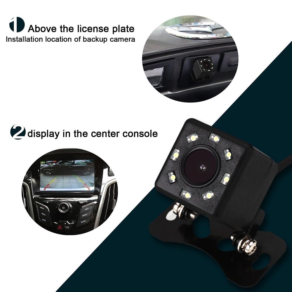 BYNCG WG 8 LED Cámara de visión trasera Cámara de respaldo Cámara - Electrónica del Automóvil - foto 6
