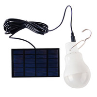 0 8W 5V Portable Solar Power LED Bulb Lamp Solar Panel Applicable Outdoor Lighting Camp Tent