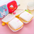 2016 New Arrival Cute Sanitary Napkin Storage Bag Women Girl Convenient Pads Bags Cotton Patchwork Embroidered Organizer SN017