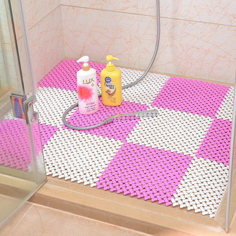 non slip bathroom floor 25 x 25cm color pe skid bath bathroom 19749 | 25 x 25CM Candy Color PE Massage Skid Bath Bathroom Bedroom Floor Mat Shower Rug Non