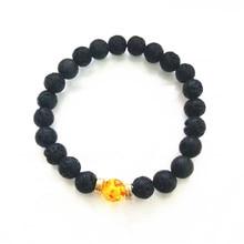 Newst 7 Chakra Bracelet Men Black Lava Healing Balance Beads Reiki Buddha Prayer Natural Stone For Women Girls Jewelry