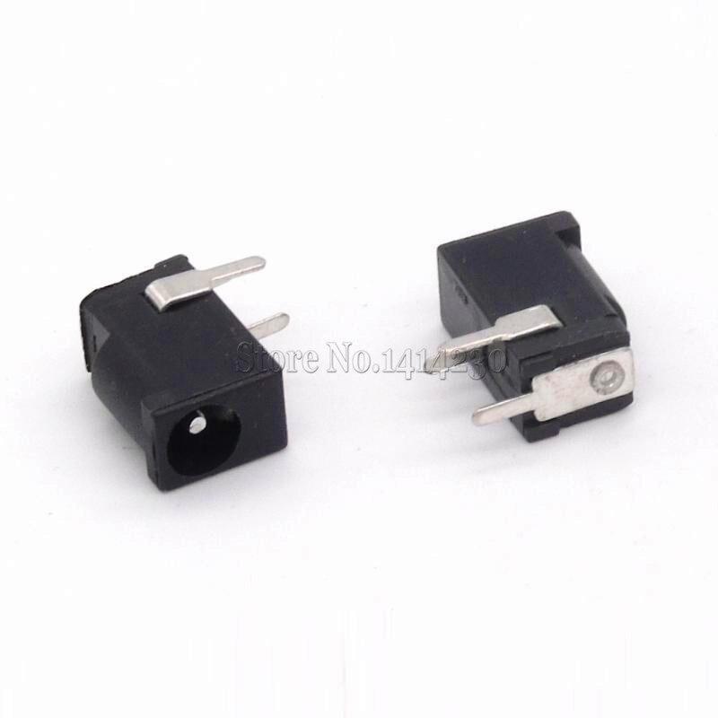 Connecteur de prise de courant cc noir 0,3a 50V   10 pièces spéciales, haute qualité, connecteur de prise DC002 3.5*1.3mm 1.3 socket connector socket dcsocket power - AliExpress
