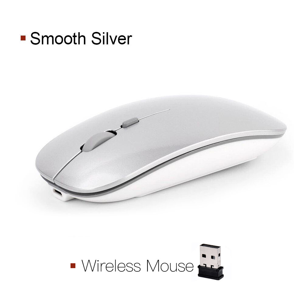 Wireless Mouse Computer Bluetooth Mouse Silent PC Mause Rechargeable Ergonomic Mouse 2.4Ghz USB Optical Mice For Laptop PC 5