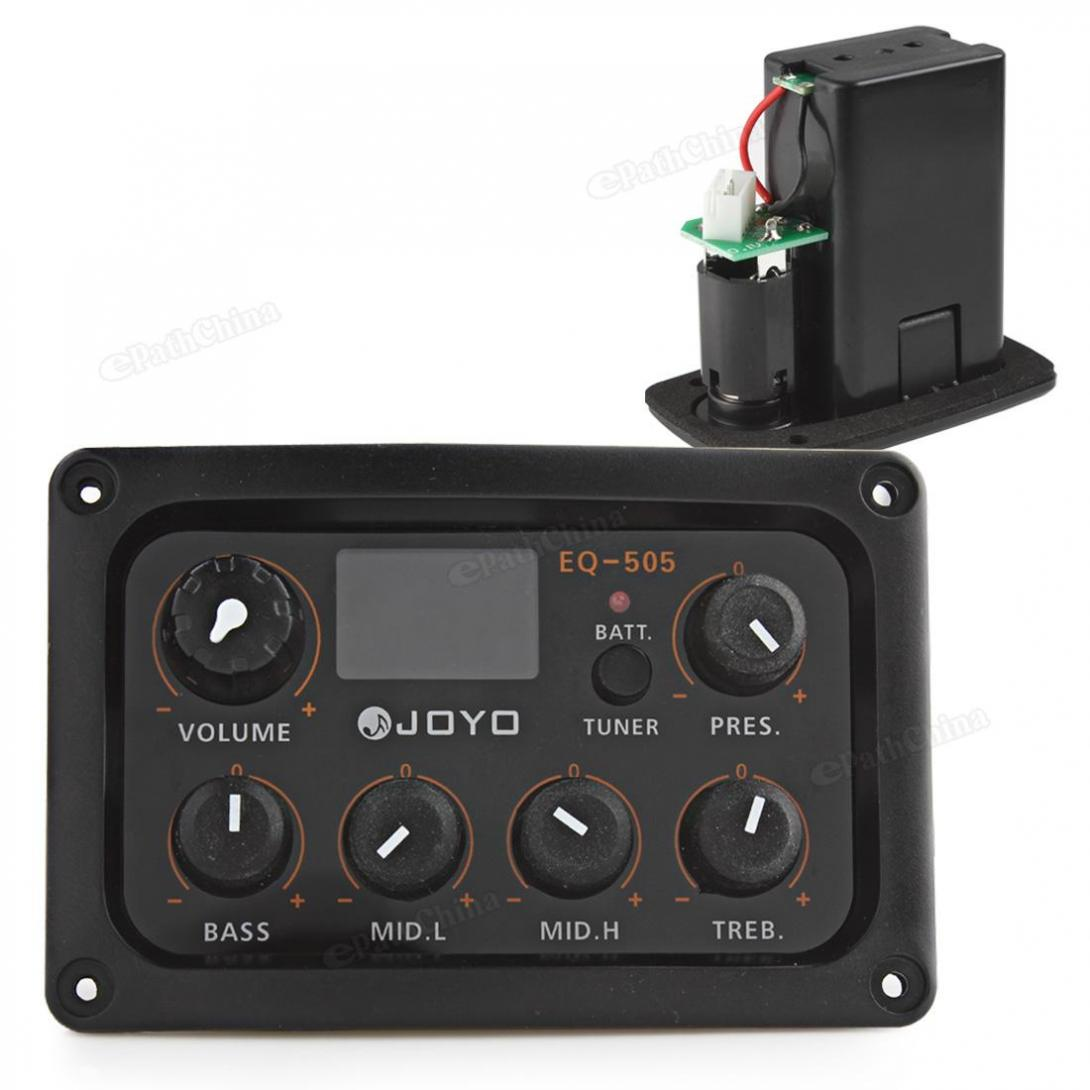 JOYO EQ-505 Digital 5 Band EQ LCD Display Equalizer Pickup Tuner for Guitar joyo eq 307 folk guitarra 5 band eq acoutsic guitar equalizer high sensibility presence adjustable with phase effect and tuner