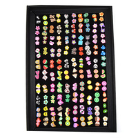 Cute Style 100 Pairs Pack Set Mixed 10 Mm Stud Earrings For Women No Allergy Ear