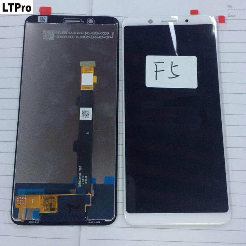 LTPro Best Quality Tested Working New LCD Display Touch Panel Screen Digitizer Assembly For Oppo F5 Mobile Sensor Phone Parts