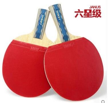 Chaud! JANUS professionnel six étoiles lames de tennis de table raquettes de tennis de table raquette sport ping-pong palettes attaque rapide raquettes
