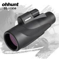 ohhunt Monocular 12X50 BAK4 Prism Waterproof Mini Telescope Professional Spotting Scope Big Eyepiece Outdoor Camping Hiking