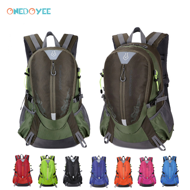 Onedoyee Outdoor Hiking Backpack Mountaineering Bag Waterproof Unisex Backpack Nylon Large Capacity Trek Travel Camping Backpack new 65l nylon large capacity mountaineering bag high quality outdoor backpack waterproof travel hiking bags