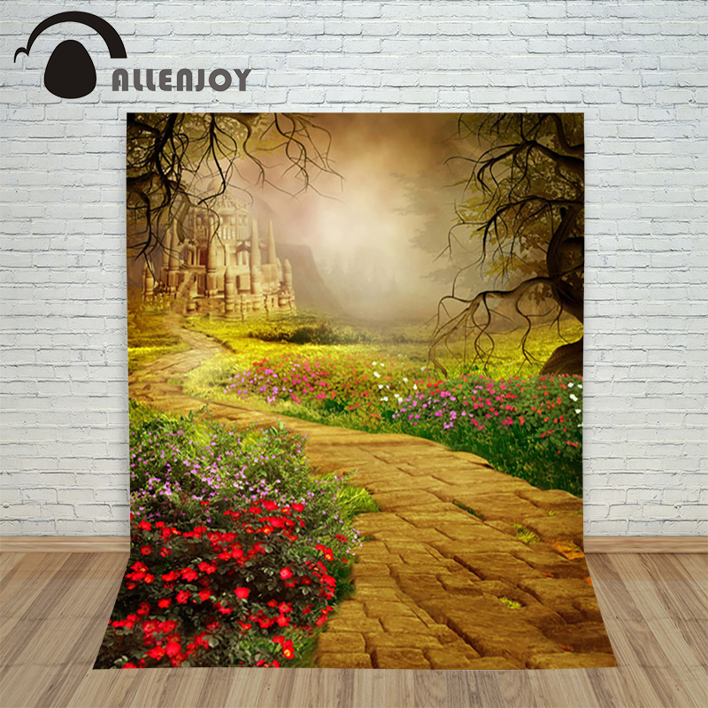 5*7feet(150*220CM) Photography Backdrops Castle flowers Allenjoy photography Background Free Shipping new arrival background fundo plant flowers fence 7 feet length with 5 feet width backgrounds lk 2802