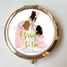 1pcs Lot Personalized Compact Mirror Anniversary GF Moms Birthday Gifts Wedding Bride To Be Party Custom