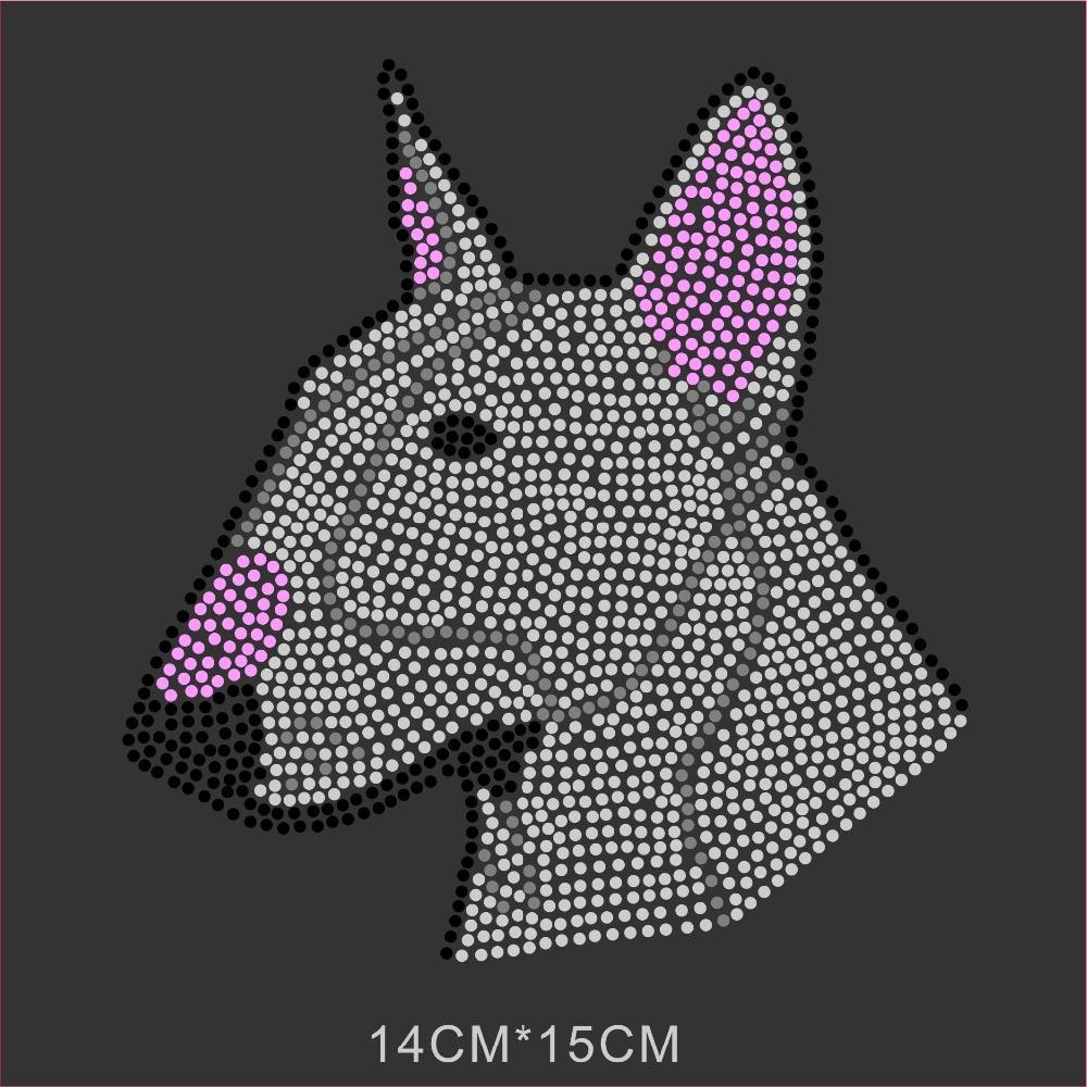 12pcs Dog Pattern Hot Fix Iron On Rhinestone Transfer For T Shirt Custom Designs Wholesale In