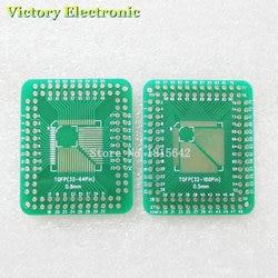 5 PCS/Lot QFP TQFP LQFP FQFP 32 44 64 80 100 LQF SMD tourner vers DIP adaptateur carte PCB convertisseur plaque 0.5/0.8mm IC adaptateur prise