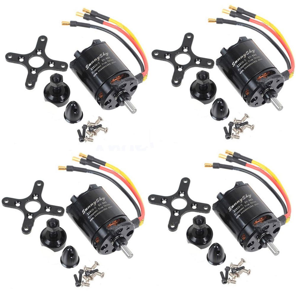 4set lot Original SunnySky X2826 550KV 740KV 880KV 1080KV Outrunner External Rotor Brushless Motor for RC