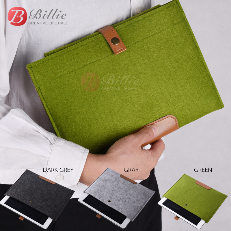 New Wool Felt For iPad air 5/6 liner sleeve, high quality Notebook case For iPhone 6 7 8 plus Laptop leather&woolfelt Handy Bag high quality 10 25 4cm colorful hard netbook laptop sleeve case bag for ipad 2 3 4 5 6 sleeve bag