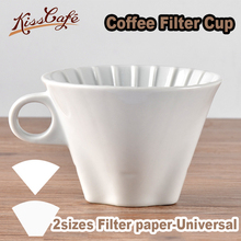Ceramic Coffee Cup Espresso Origami Filter Cups V60 Funnel Drip Hand Filters Accessories For Competition