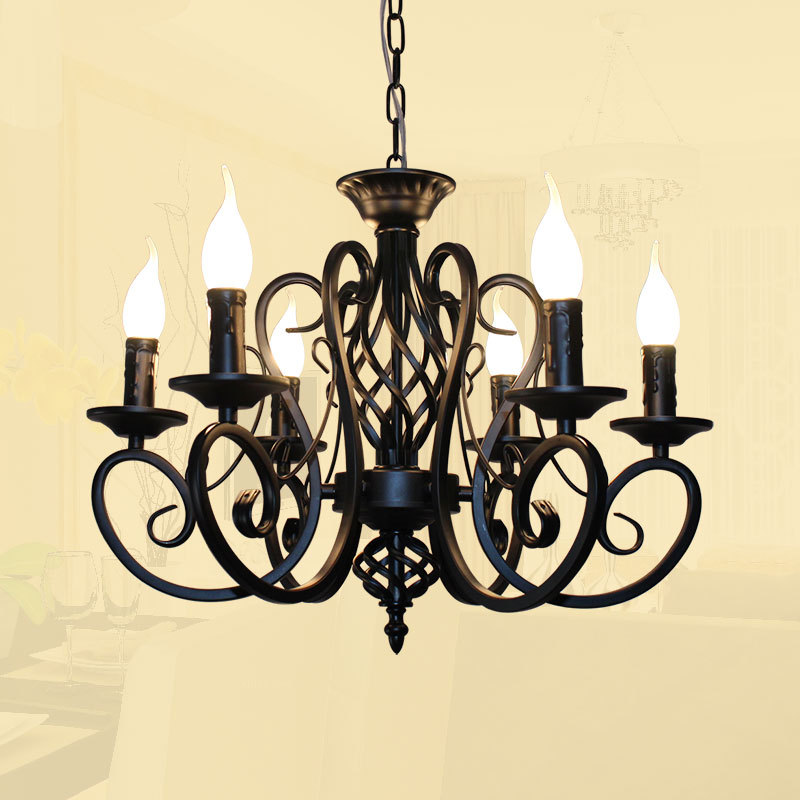 Lámpara americana 6 brazos de LED clásica araña europea 8 tChdQsxr