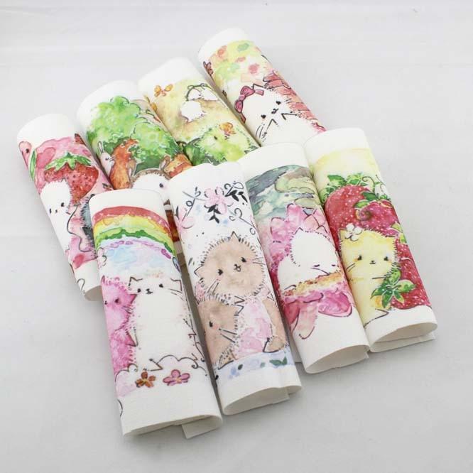 ᐃGato de dibujos animados DIY fieltro tela de algodón muñecas de ...