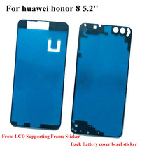 For Huawei Honor 8 honor8 Back Battery cover Sticker LCD Screen Front Frame Bezel 3M Glue Double Sided Adhesive Tape(China)