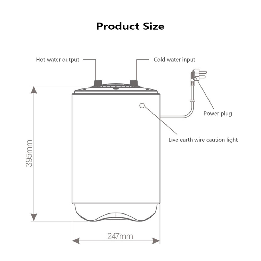 Original Xiaomi Viomi Df01 Electric Water Heater Portable Shower Wiring Diagram For Kitchen Bathroom 66l 1500w In Heaters From