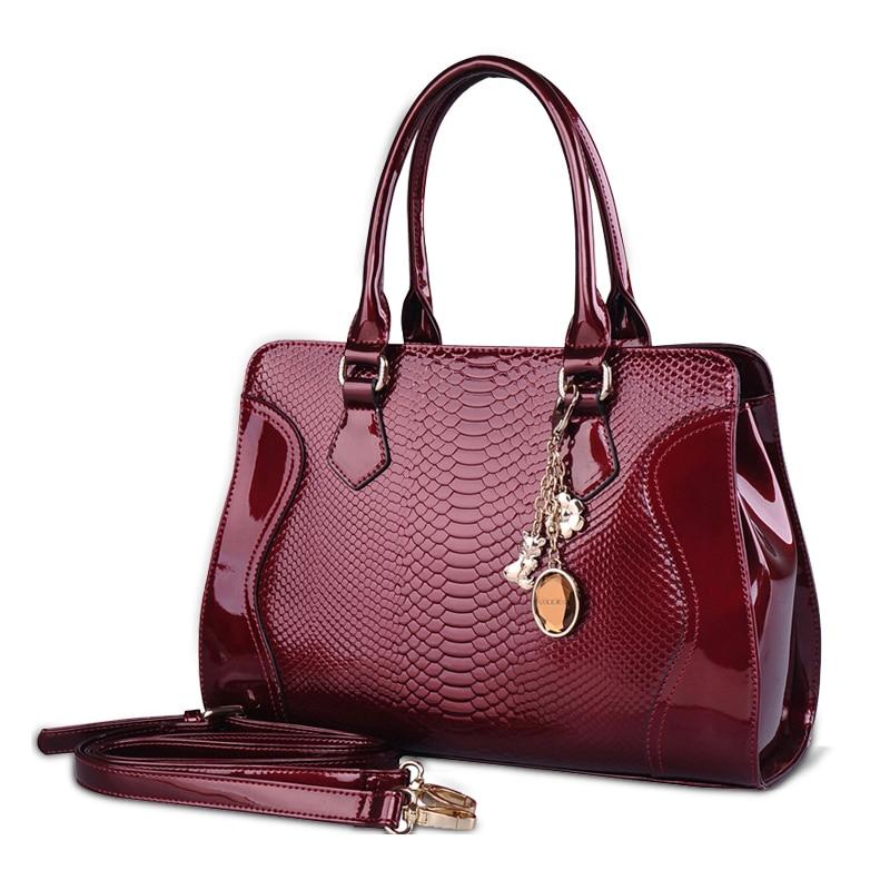 Women Handbag Top Handle Tote Bag Patent Leather Shoulder Bag patent leather handbag shoulder bag for women page 7