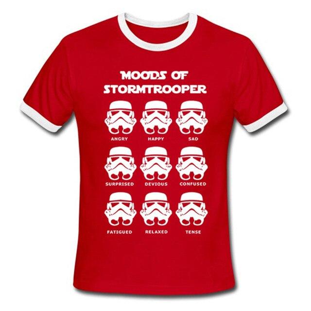 dee57e0ec Mens T-Shirt Star Wars Stormtrooper Funny Parody Darth Vader Kiss Rock Band  T Shirt Summer Full Cotton Tee White Euro Size S-2XL