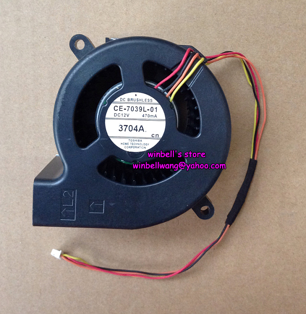 Brand New 7040 7cm projector fan CE-7039L-01 12V 470mA 4wires~