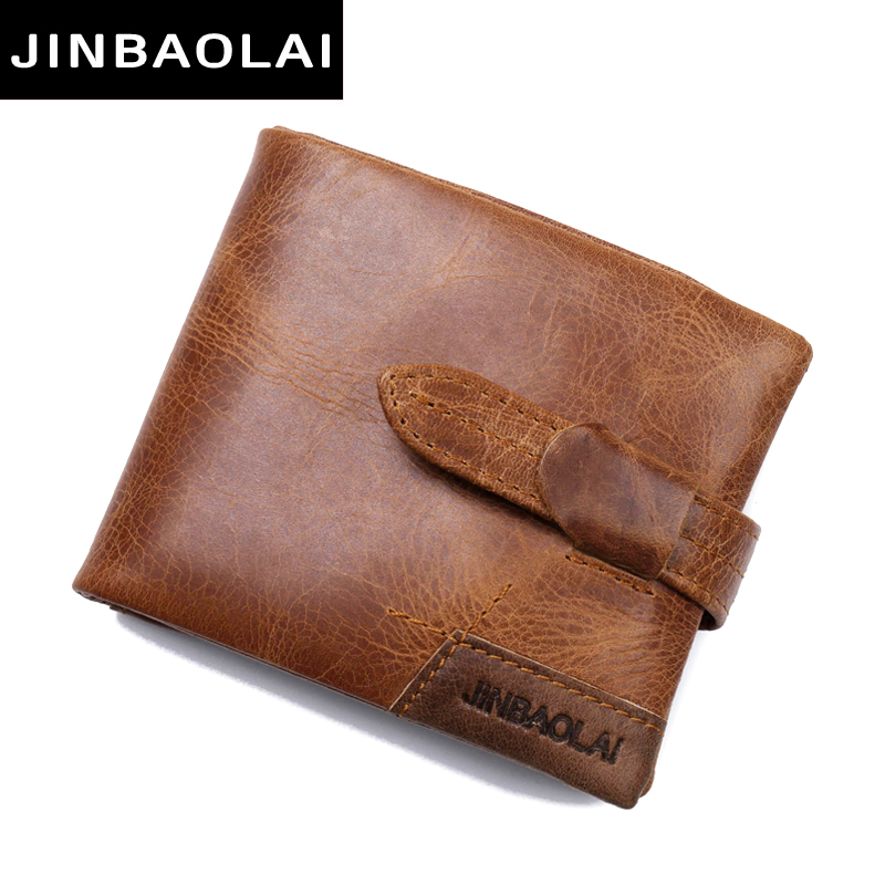 JINBAOLAI Luxury Genuine Leather Men Bifold Wallet ID Card Holder Coin Purse With Zipper Male Wallet Brand High Quality 2017 New hot sale jinbaolai bifold wallet men leather credit id card holder purse mini wallet fashion brand quality purse wallet for men