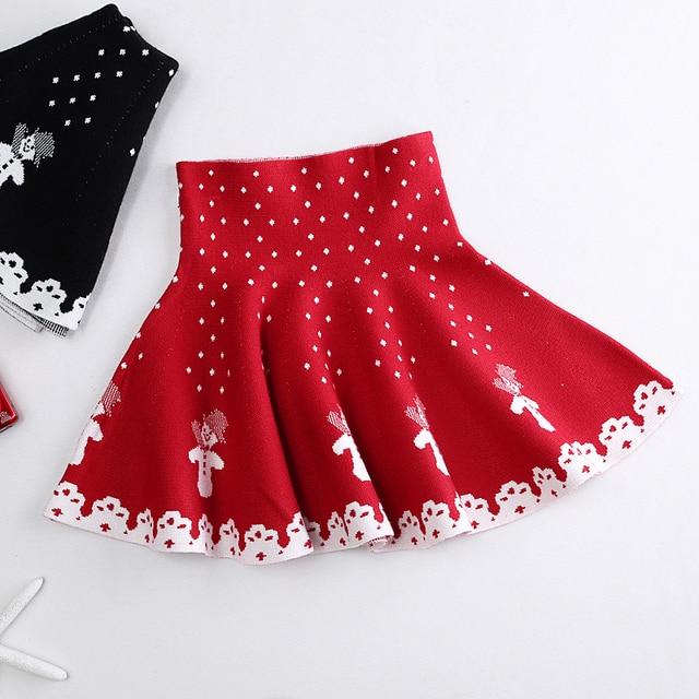 Silhouette Girl Real Wallpaper Christmas Skirt Girls Skirts Baby Clothes Children