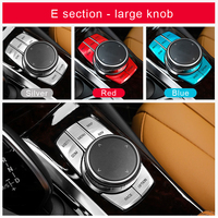 Car styling Interior metal Multimedia Buttons Cover Decorative trim Stickers Accessories for BMW 5 series G30 G38 Accessories