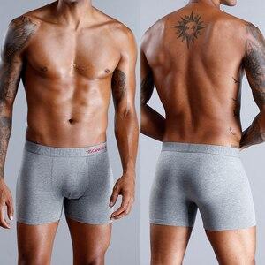 Image 3 - 4 Pieces Mens Underwear Boxers Bamboo Underwear Male Underpants Men Sexy Under Wear Sexy Boxer Man Calecon Man Cotton Penis 2019