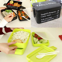 New Hot Student Lunch Box Office Food Insulated Container Plastic Picnic Food Container Cooler Box 3