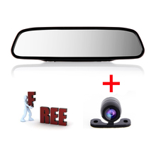 BYNCG 4.3-WG1 Parking Assistance System 2 in 1 4.3 Digital TFT LCD Mirror Auto Car Parking Monitor + Mini Car Rear view Camera
