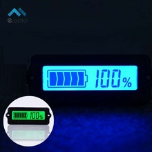 12V LY6W Lead Acid Battery Capacity Indicator Blue Green LCD Digit Display Meter Lithium Battery Power Level Detector Tester
