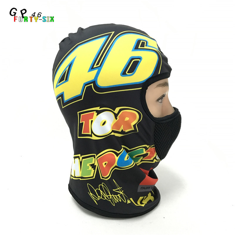 Dust-proof Motorcycle Face Mask Balaclava for Valen Rossi 46 Full Face Motorcycle Helmet Hood Ski Scarf Mask Neck Tube neck