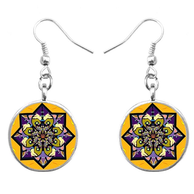 Suteyi henna chandelier earrings picture mandala dome glass suteyi henna chandelier earrings picture mandala dome glass earring buddhist meditation earings jewelry diy women accessories mozeypictures Gallery