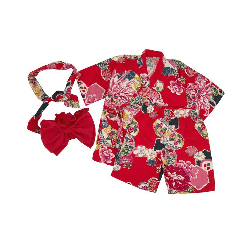 4PCS Children\'s Japanese Style Kimono Girls sweating Home Yukata Costume Cotton Kids Sleepwear Kimono Underwear Pijamas Z950