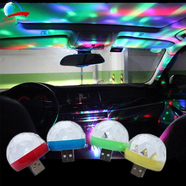 Cinco luces para elegir coche USB luces LED atmósfera Lámpara decorativa LED USB Club Disco Magic escenario efecto luces Coche estilo